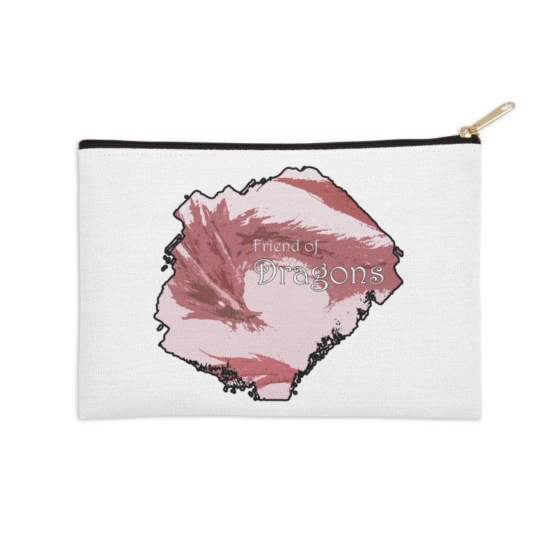 Friend of Dragons - Red Accessories Zip Pouch by mirrortail's Shop