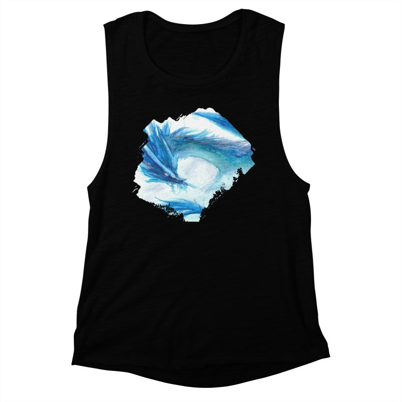 Colossal of the Blue Mists Women's Muscle Tank by mirrortail's Shop