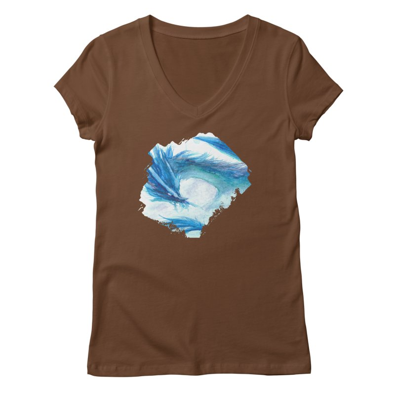 Colossal of the Blue Mists Women's V-Neck by mirrortail's Shop