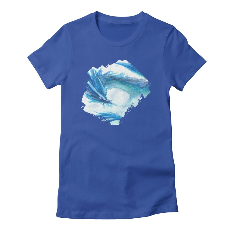 Colossal of the Blue Mists Women's Fitted T-Shirt by mirrortail's Shop