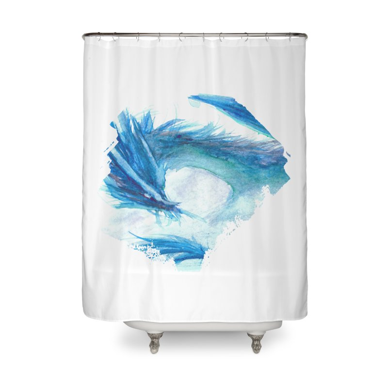 Colossal of the Blue Mists Home Shower Curtain by mirrortail's Shop