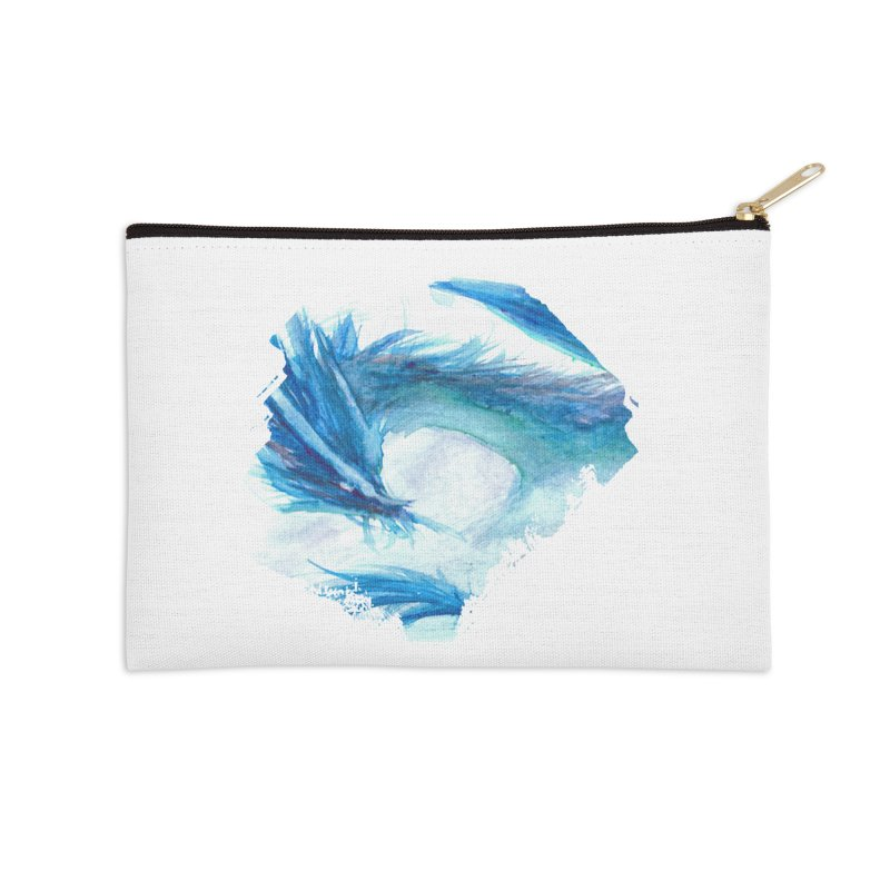Colossal of the Blue Mists Accessories Zip Pouch by mirrortail's Shop