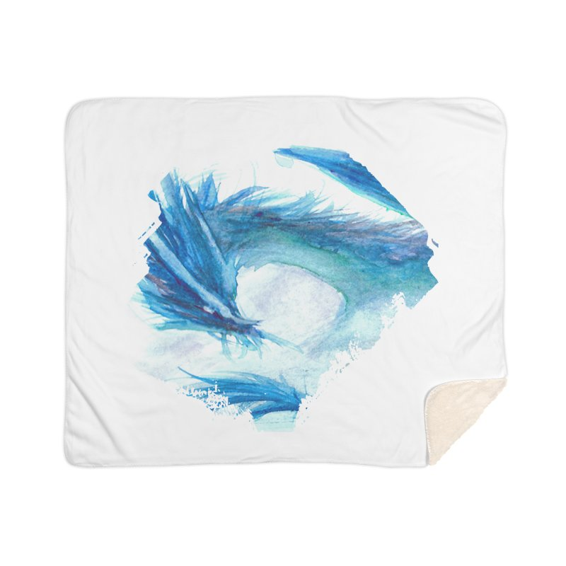 Colossal of the Blue Mists Home Sherpa Blanket Blanket by mirrortail's Shop