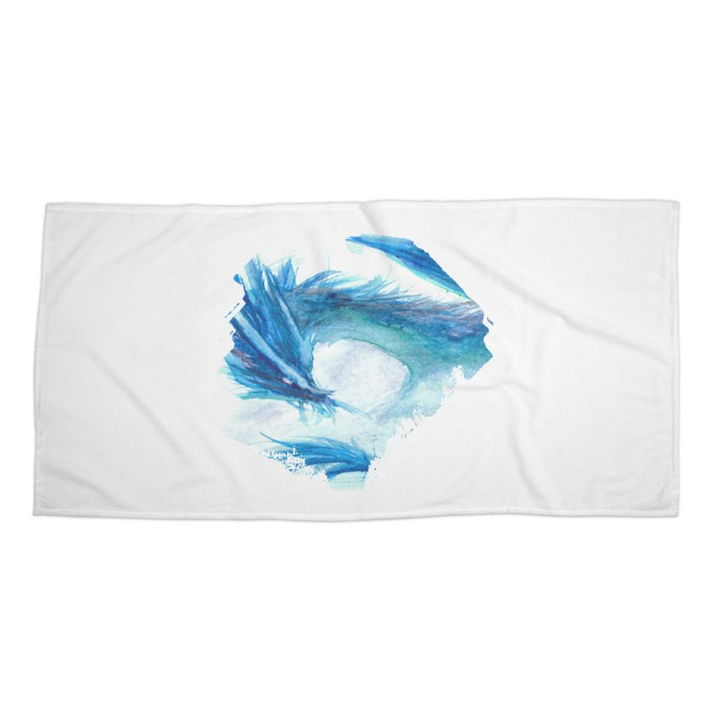 Colossal of the Blue Mists Accessories Beach Towel by mirrortail's Shop