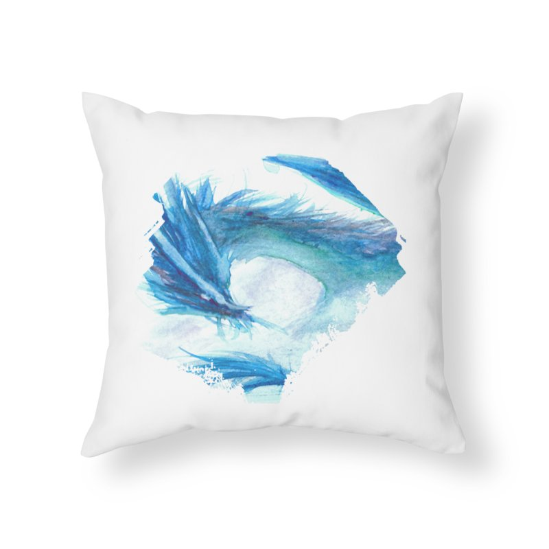 Colossal of the Blue Mists Home Throw Pillow by mirrortail's Shop