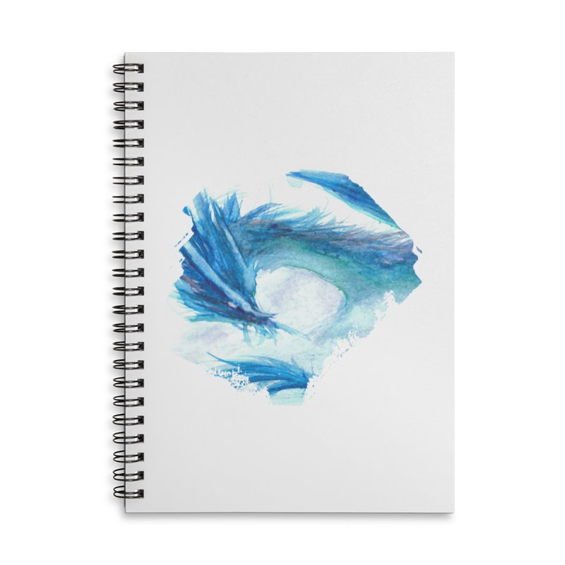 Colossal of the Blue Mists Accessories Lined Spiral Notebook by mirrortail's Shop