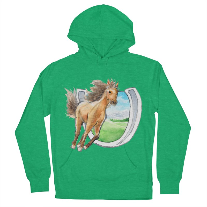 Buckskin Horseshoe Women's Pullover Hoody by mirrortail's Shop
