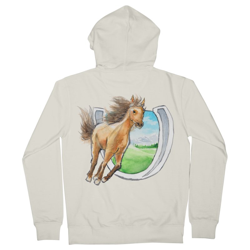 Buckskin Horseshoe Women's French Terry Zip-Up Hoody by mirrortail's Shop