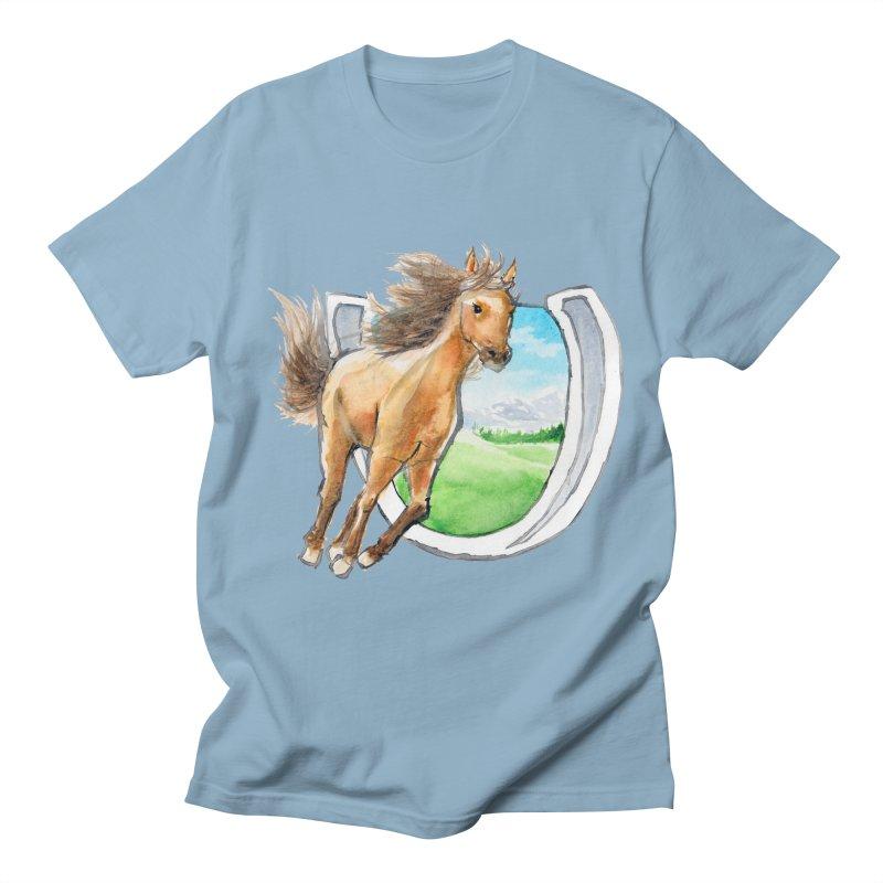Buckskin Horseshoe Women's Unisex T-Shirt by mirrortail's Shop