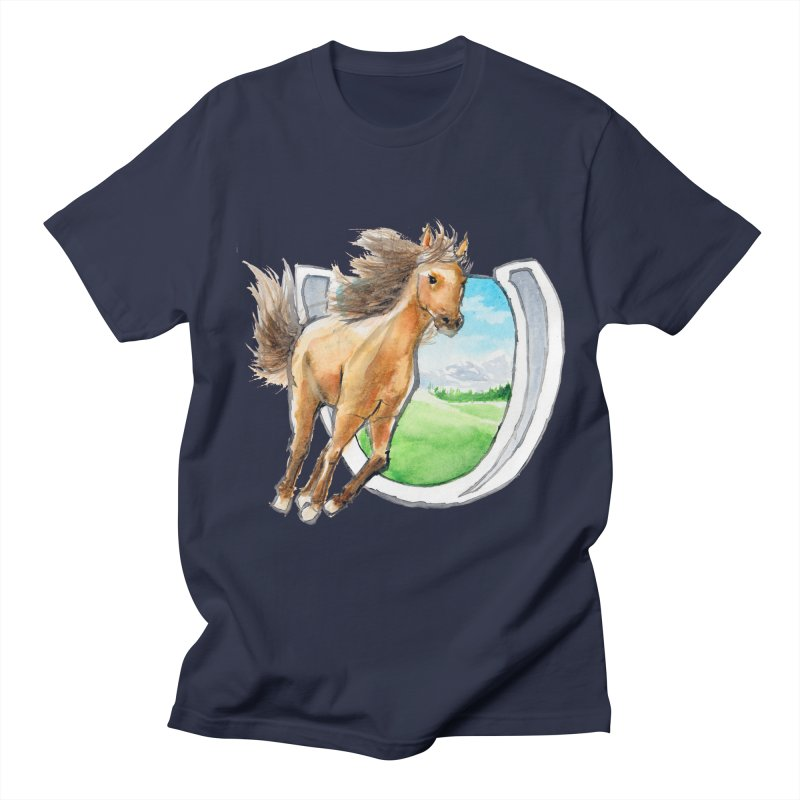 Buckskin Horseshoe Women's Regular Unisex T-Shirt by mirrortail's Shop