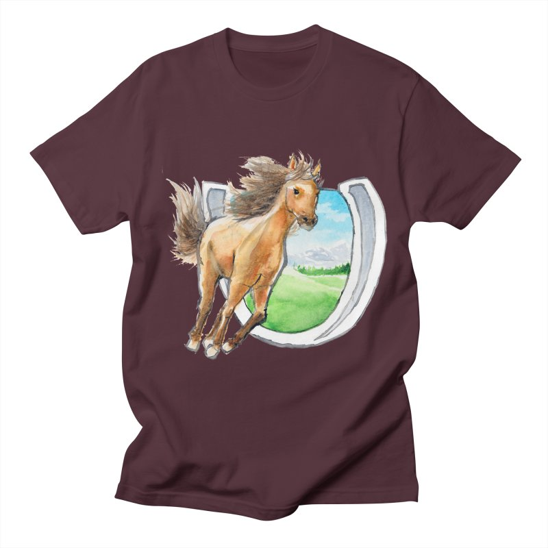 Buckskin Horseshoe Men's Regular T-Shirt by mirrortail's Shop