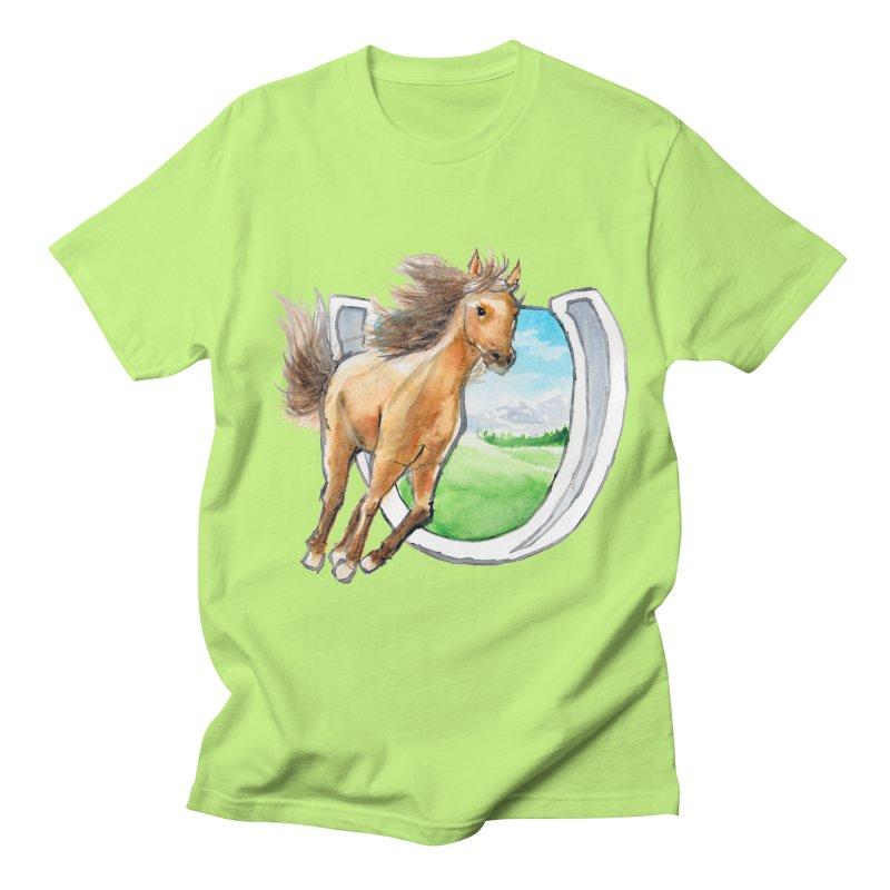 Buckskin Horseshoe Men's T-shirt by mirrortail's Shop
