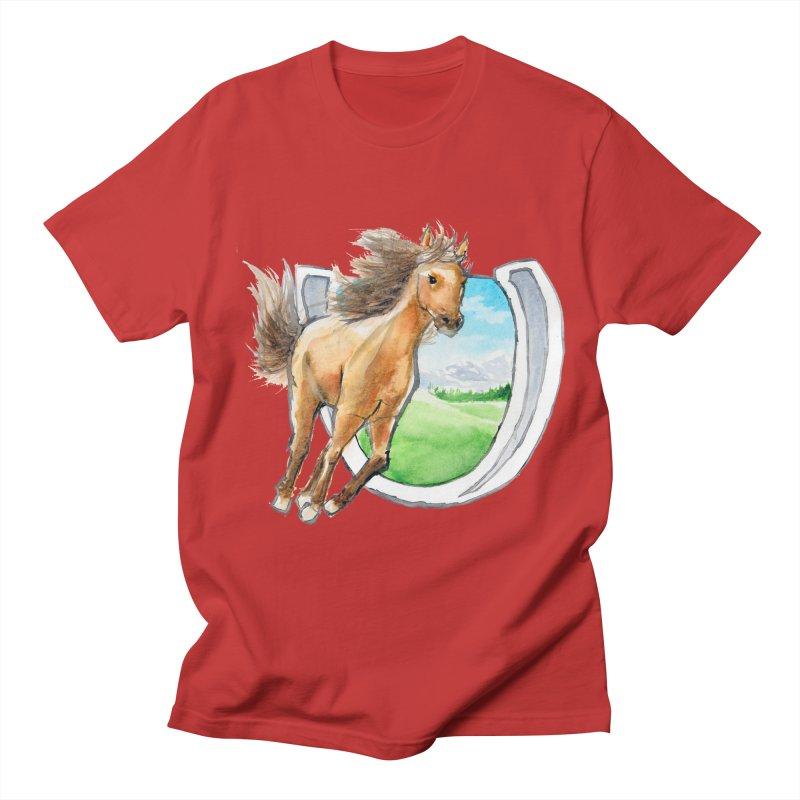 Buckskin Horseshoe Women's Regular Unisex T-Shirt by mirrortail's Shop