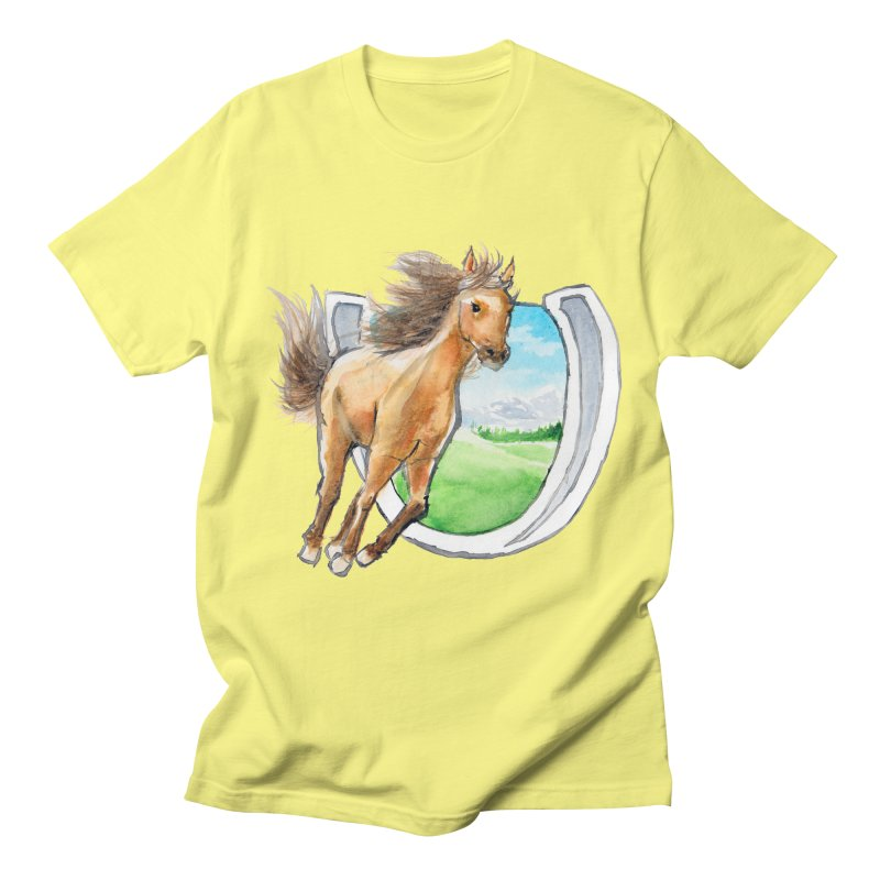 Buckskin Horseshoe Women's Unisex T-Shirt by mirrortail's Shop