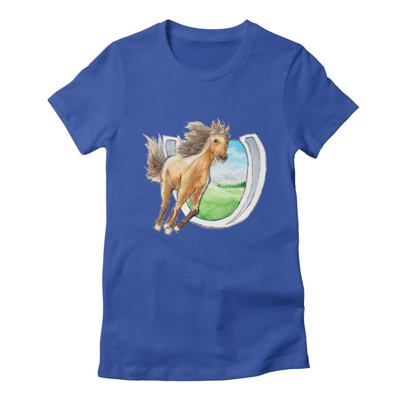 Buckskin Horseshoe Women's Fitted T-Shirt by mirrortail's Shop