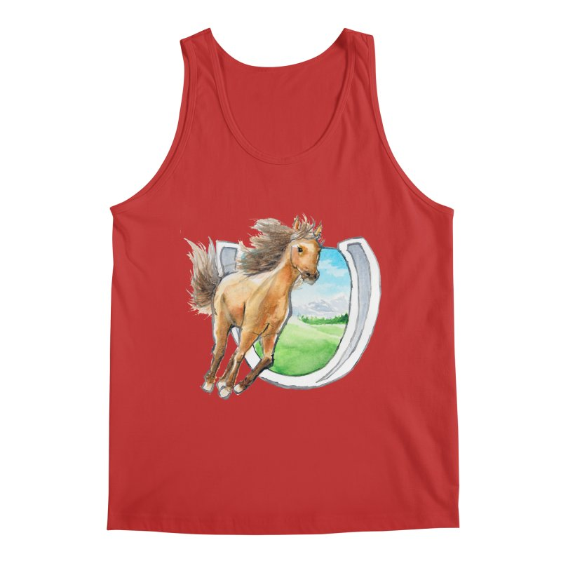 Buckskin Horseshoe Men's Regular Tank by mirrortail's Shop