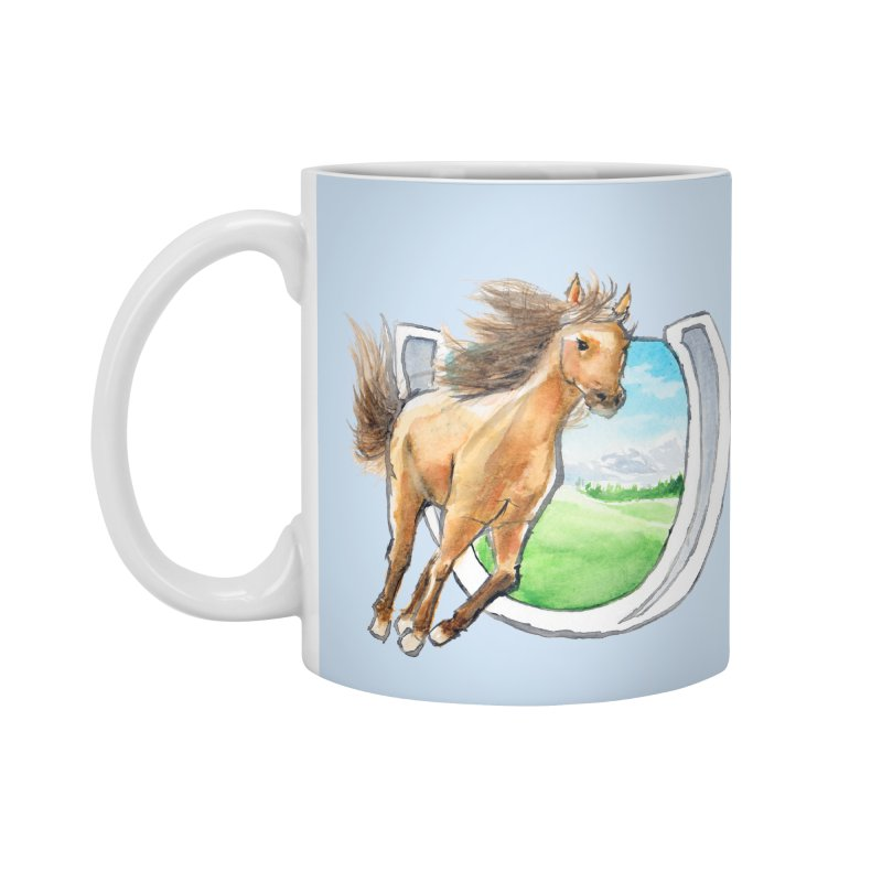 Buckskin Horseshoe Accessories Mug by mirrortail's Shop