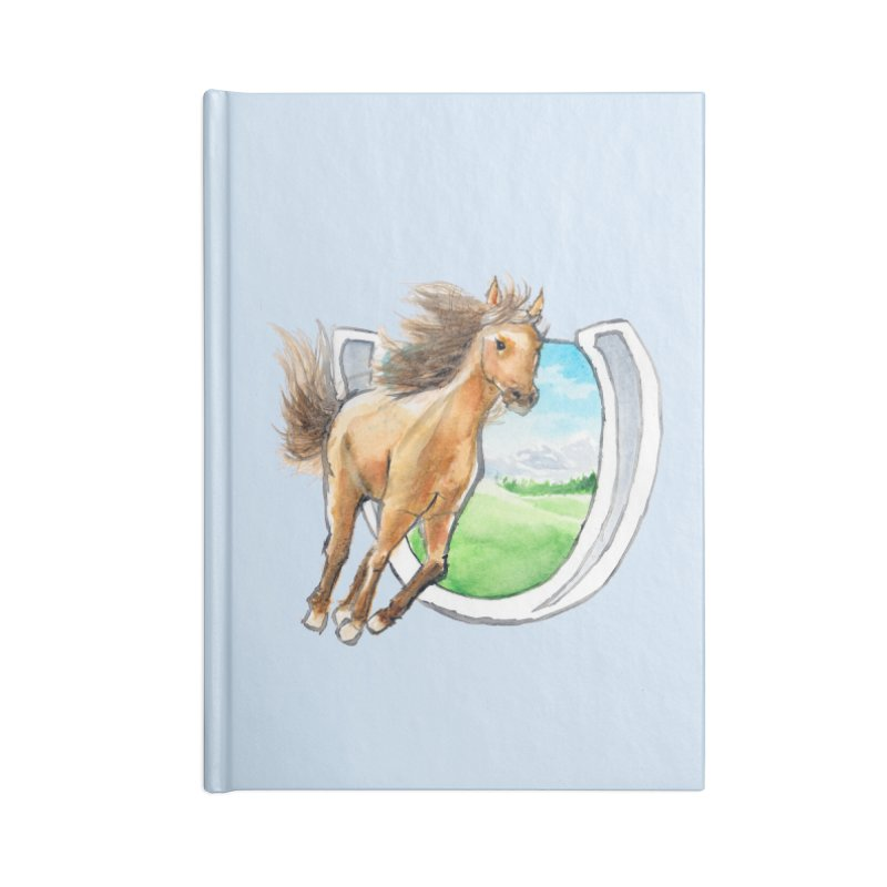 Buckskin Horseshoe Accessories Notebook by mirrortail's Shop