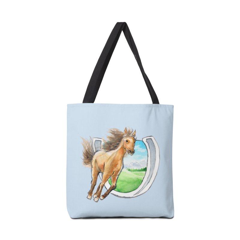 Buckskin Horseshoe Accessories Bag by mirrortail's Shop