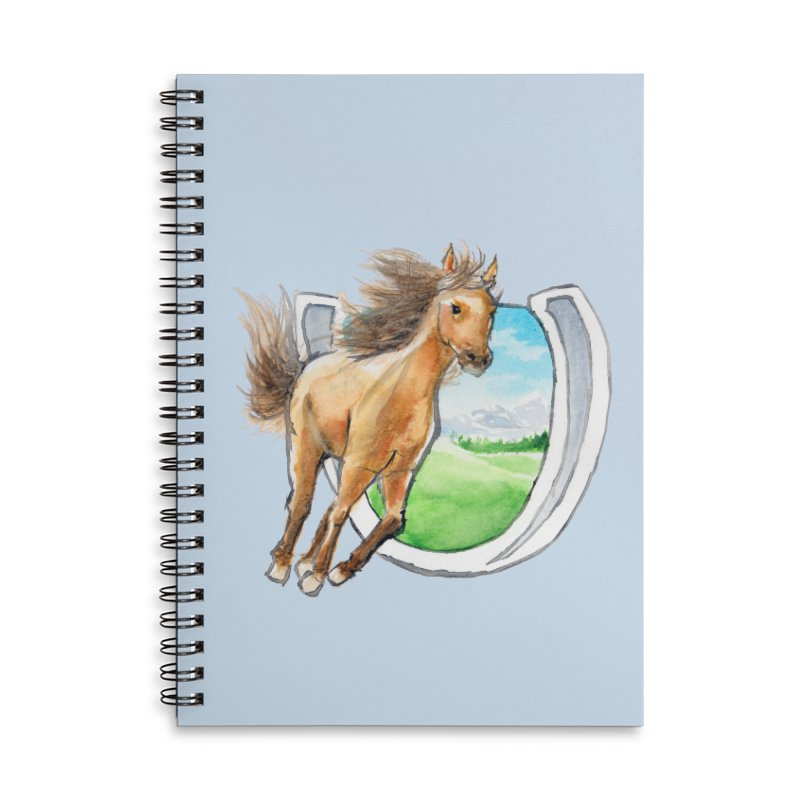 Buckskin Horseshoe Accessories Lined Spiral Notebook by mirrortail's Shop