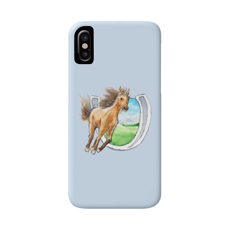 Buckskin Horseshoe Accessories Phone Case by mirrortail's Shop