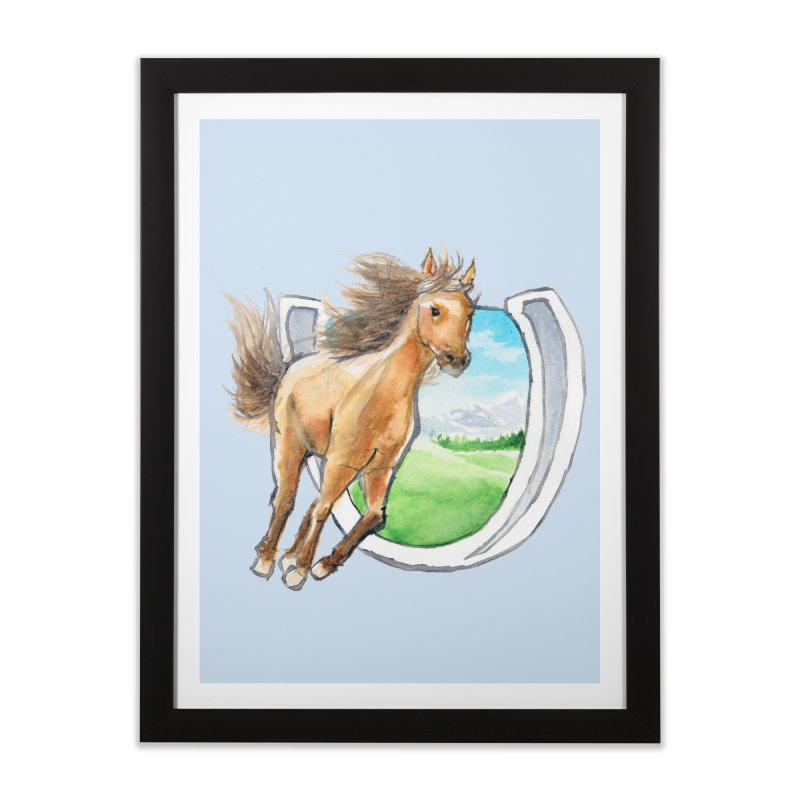 Buckskin Horseshoe Home Framed Fine Art Print by mirrortail's Shop