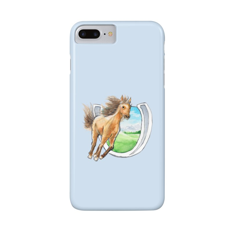 Buckskin Horseshoe Accessories Phone Case by mirrortail's Shop