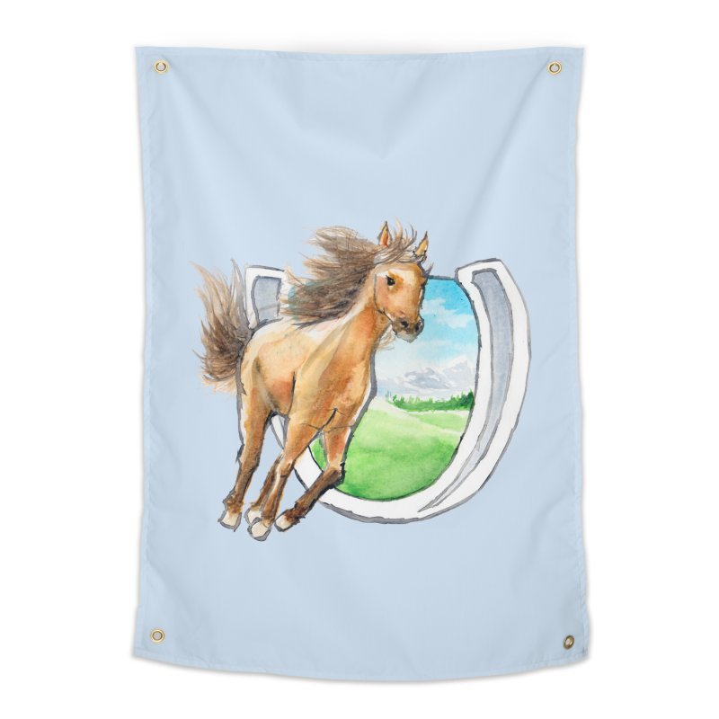Buckskin Horseshoe Home Tapestry by mirrortail's Shop