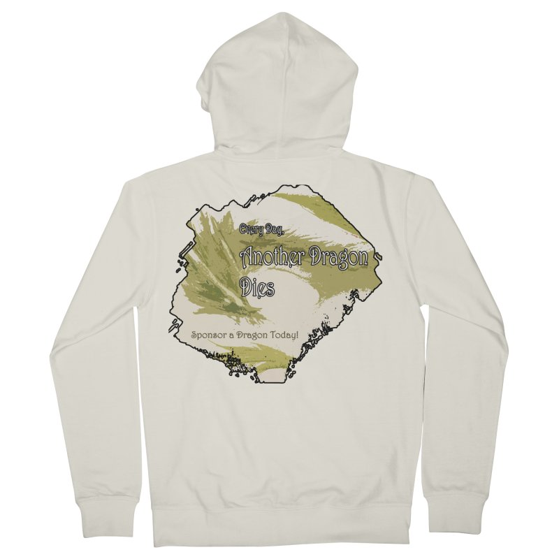 Sponsor a Dragon Men's French Terry Zip-Up Hoody by mirrortail's Shop
