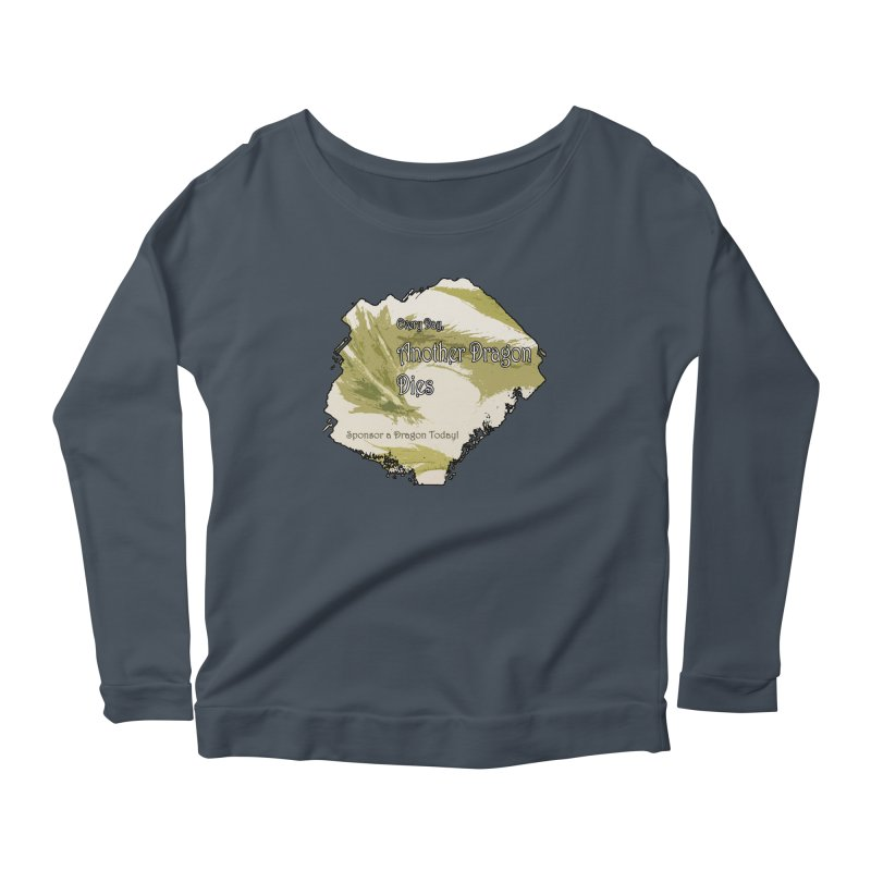 Sponsor a Dragon Women's Longsleeve Scoopneck  by mirrortail's Shop