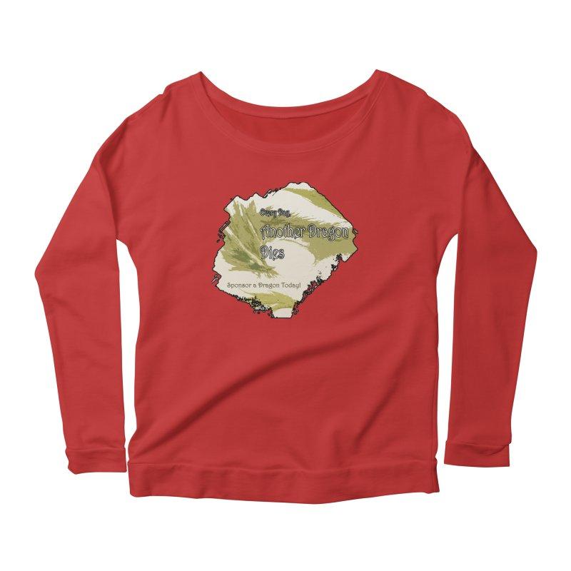 Sponsor a Dragon Women's Longsleeve Scoopneck  by mirrortail's Shop