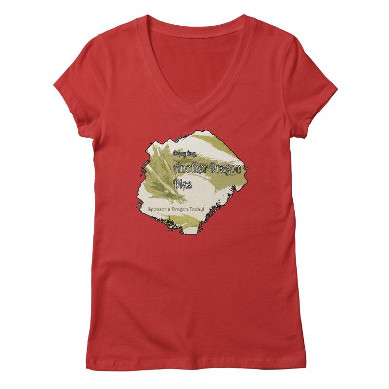 Sponsor a Dragon Women's V-Neck by mirrortail's Shop