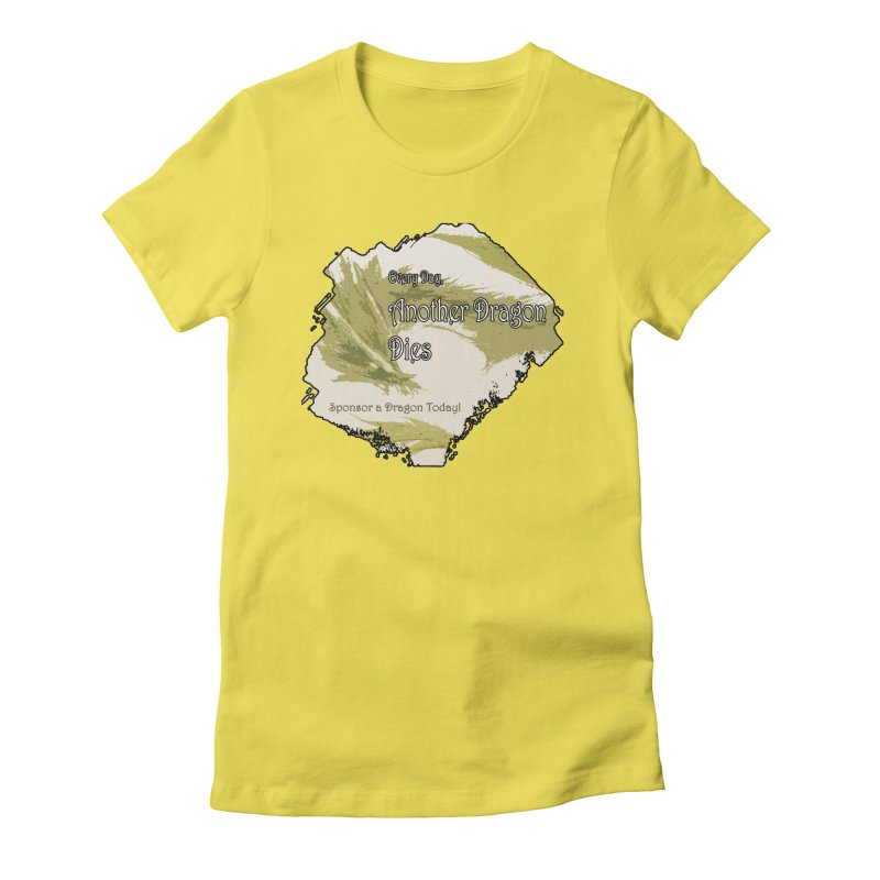 Sponsor a Dragon Women's Fitted T-Shirt by mirrortail's Shop