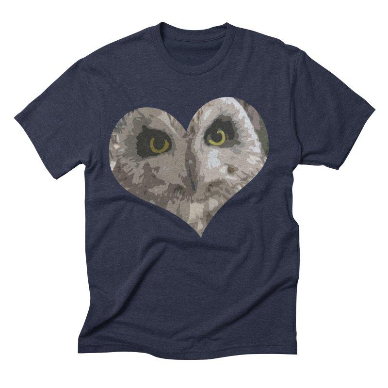 Owl Heart Filter Men's Triblend T-shirt by mirrortail's Shop