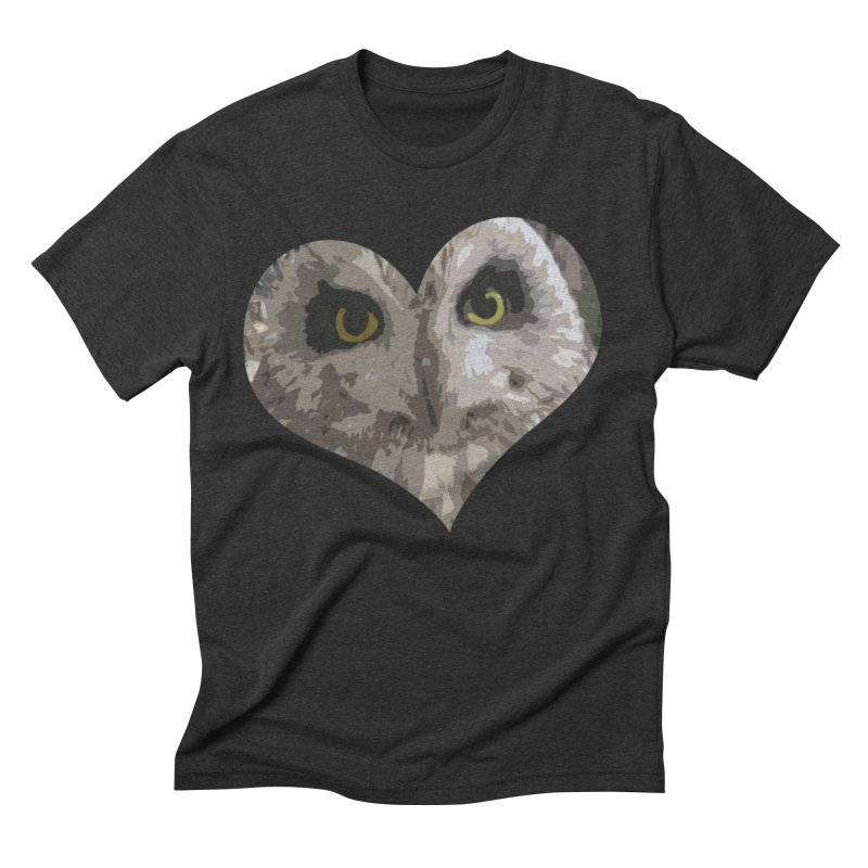 Owl Heart Filter Men's Triblend T-Shirt by mirrortail's Shop