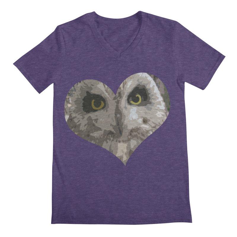Owl Heart Filter Men's Regular V-Neck by mirrortail's Shop