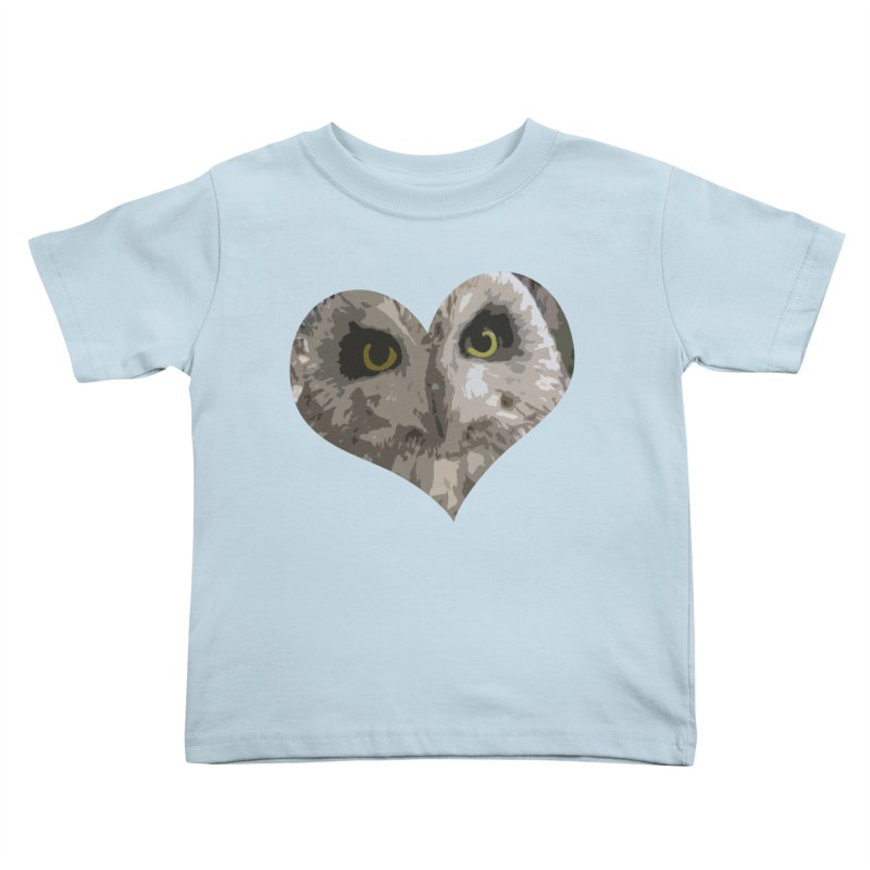 Owl Heart Filter Kids Toddler T-Shirt by mirrortail's Shop