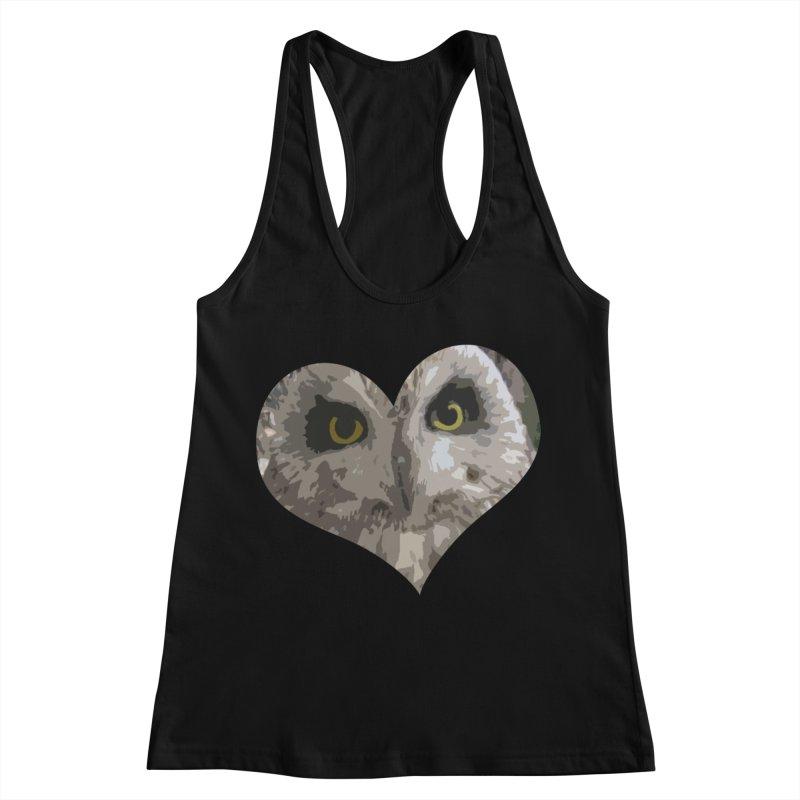 Owl Heart Filter Women's Racerback Tank by mirrortail's Shop
