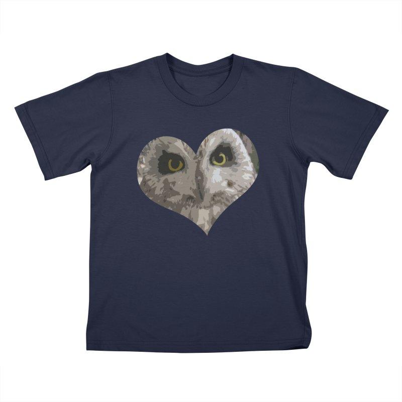 Owl Heart Filter Kids T-shirt by mirrortail's Shop