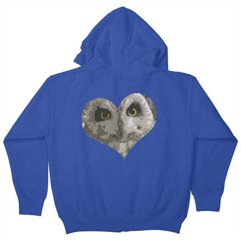 Owl Heart Filter Kids Zip-Up Hoody by mirrortail's Shop