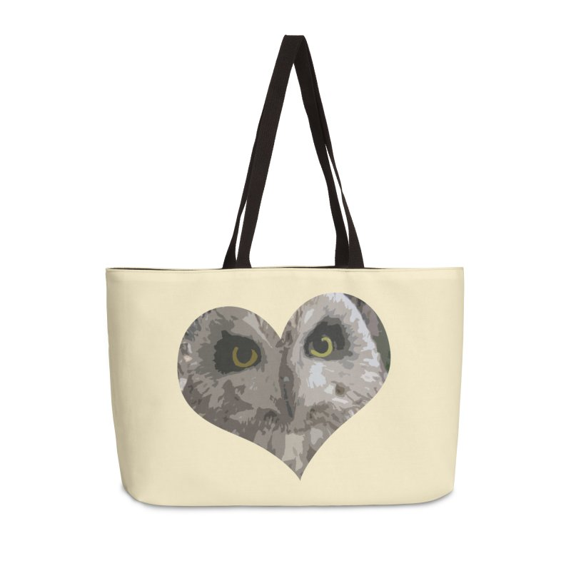 Owl Heart Filter Accessories Weekender Bag Bag by mirrortail's Shop