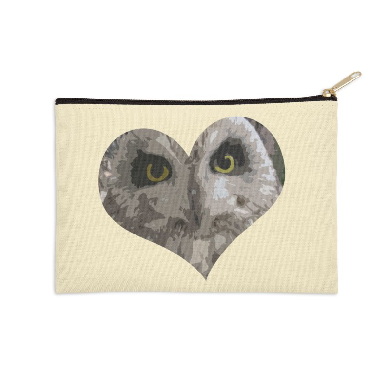 Owl Heart Filter Accessories Zip Pouch by mirrortail's Shop