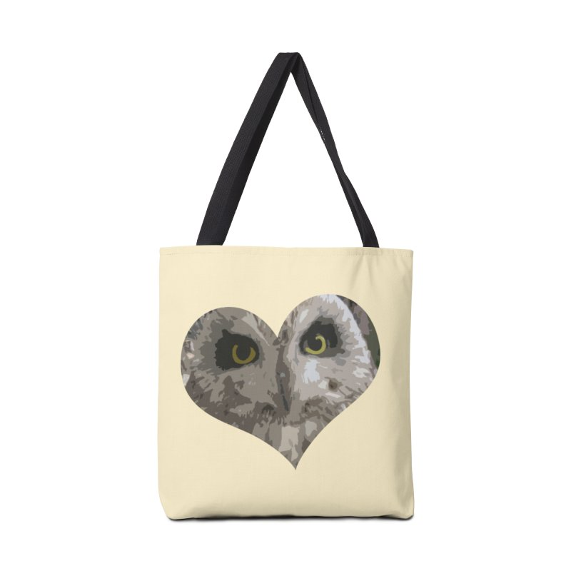 Owl Heart Filter Accessories Bag by mirrortail's Shop