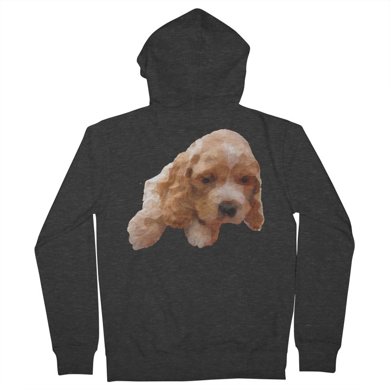 Cocker Spaniel Poly Women's French Terry Zip-Up Hoody by mirrortail's Shop