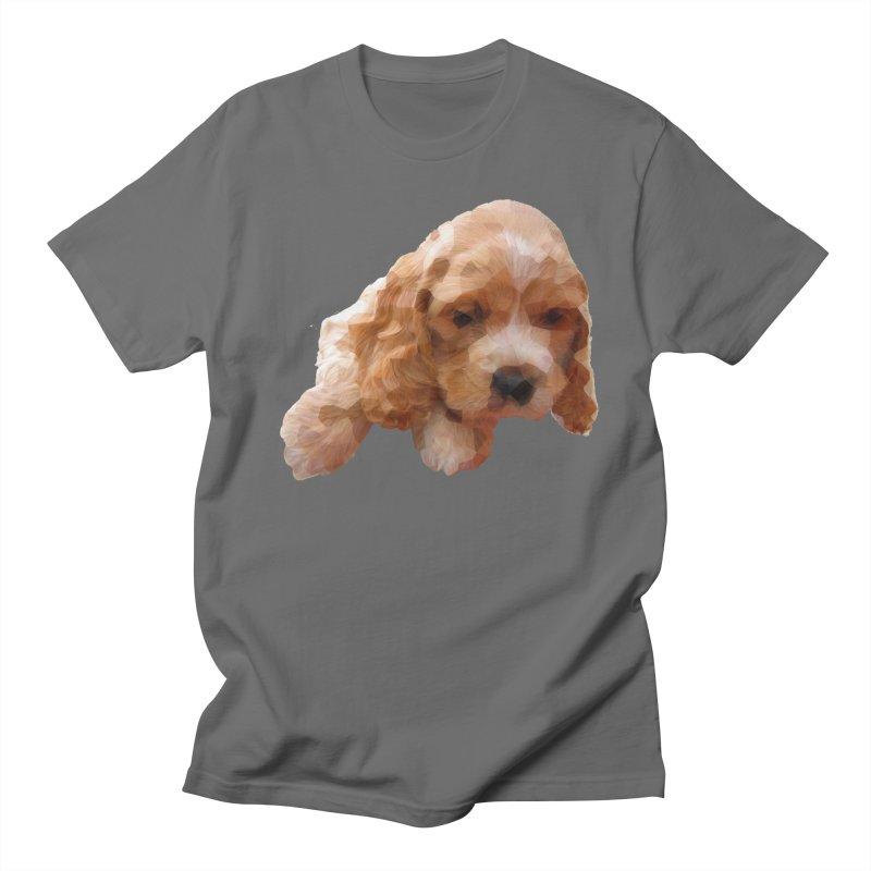 Cocker Spaniel Poly Men's T-Shirt by mirrortail's Shop