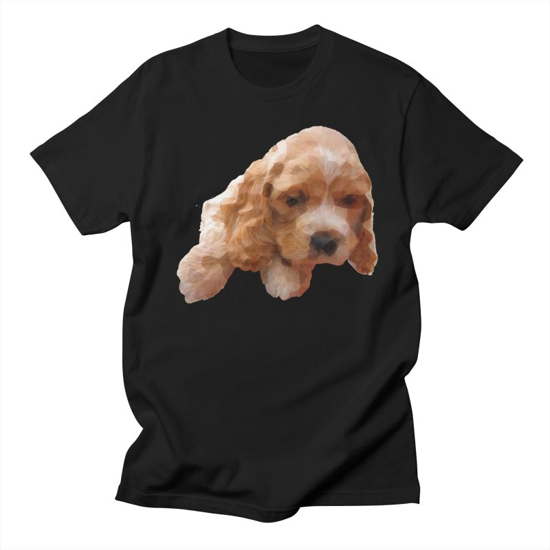 Cocker Spaniel Poly Men's T-Shirt by mirrortail's Shop