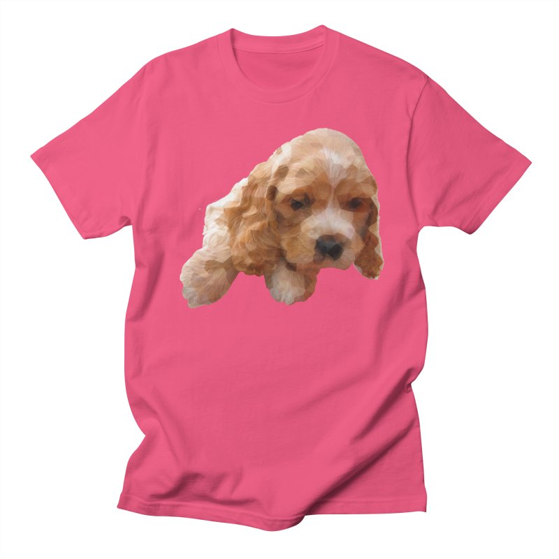 Cocker Spaniel Poly Men's Regular T-Shirt by mirrortail's Shop