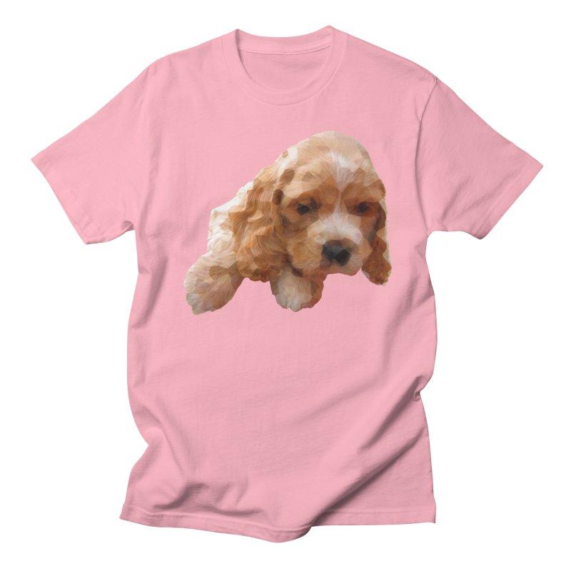 Cocker Spaniel Poly Men's Regular T-Shirt by mirrortail's Shop