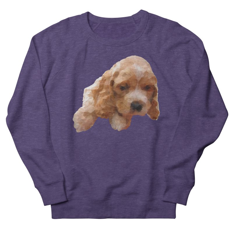 Cocker Spaniel Poly Women's French Terry Sweatshirt by mirrortail's Shop