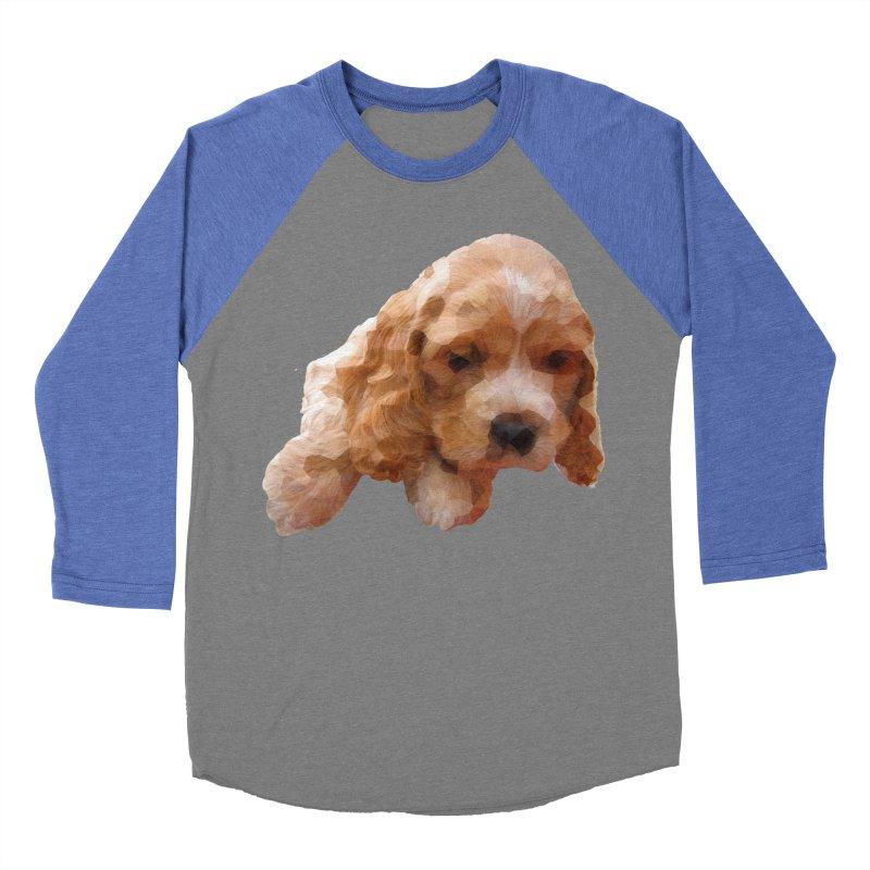 Cocker Spaniel Poly Women's Baseball Triblend T-Shirt by mirrortail's Shop
